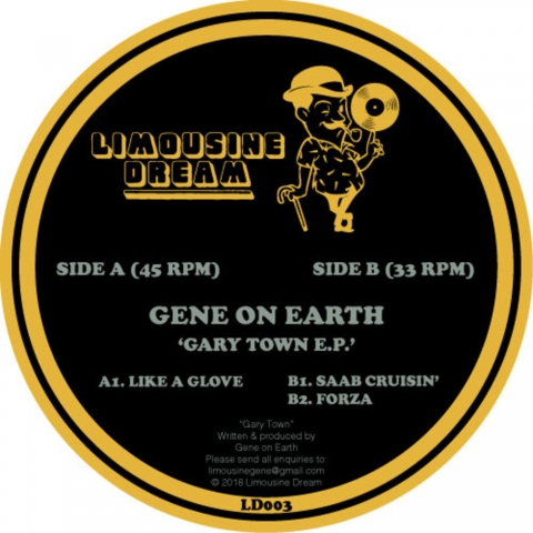 "( LD 003 ) GENE ON EARTH - Gary Town EP (12"") Limousine Dream US"