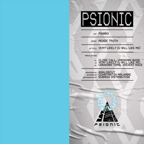 """( PSI 003 ) READE TRUTH - Very Likely (U Will Like Me)  (12"""") Psionic"""