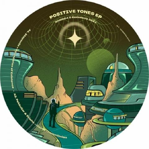 "( KMN 004 ) STOPOUTS / PEKKULIAR / DRIAHN /  CMYK - Positive Tones EP (12"") Kommuna"