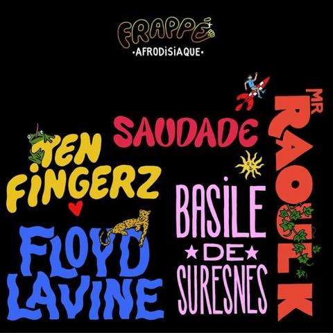 "( FRPP 005 ) FLoyd LAVINE / MR RAOUL K / SAUDADE / TEN FINGERZ / BASILE DE SURESNES - Afrodisiaque (12"") Frappe"