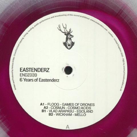 "( ENDZ 039 ) FLOOG / COSMJN / VLAD ARAPASU / WICKHAM - 6 Years Of Eastenderz Pt 1 (marbled vinyl 12"") Eastenderz"