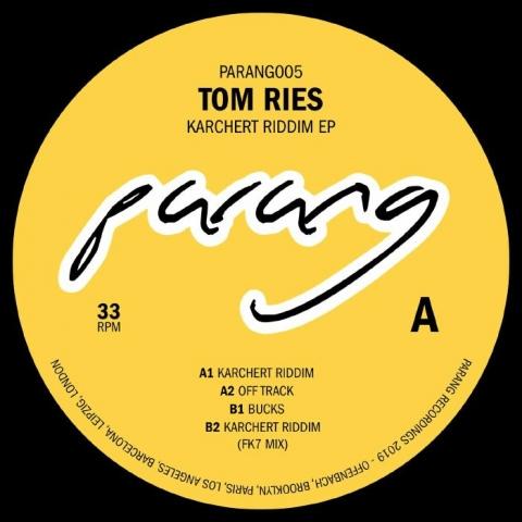 "( PARANG 005 ) Tom RIES - Karchert Riddim (12"" limited to 300 copies) Parang Recordings"