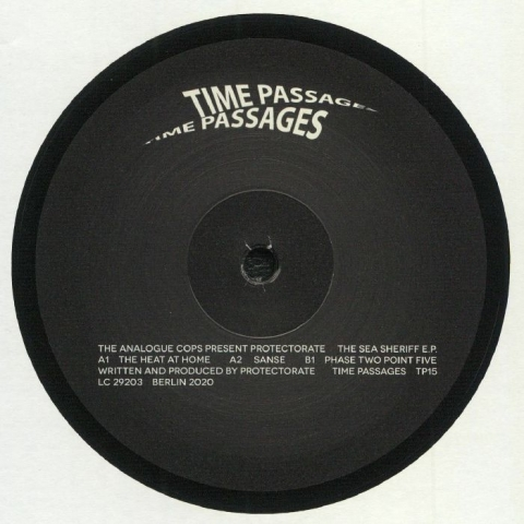 "( TP 15 ) The ANALOGCOPS present PROTECTORATE - The Sea Sheriff EP (12"") Time Passages Germany"