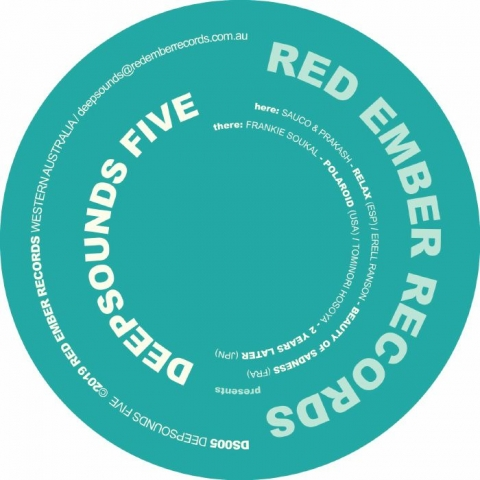 "( DS 005 ) SAUCO & PRAKASH / ERELL RANSON / FRANKIE SOUKAL / TOMINORI HOSOYA - Deepsounds Five (12"") Red Ember Australia"