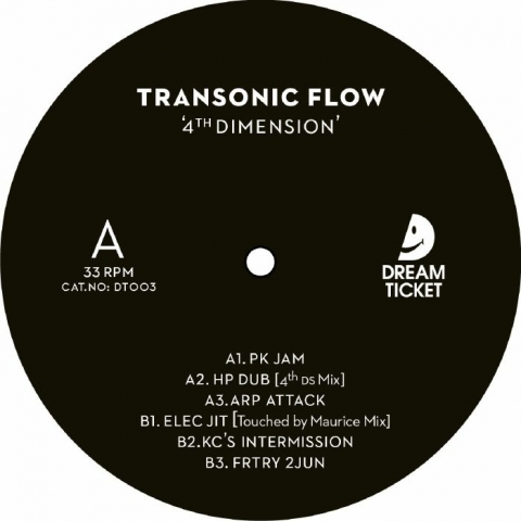 "( DT 003 ) TRANSONIC FLOW - 4th Dimension (12"") Dream Ticket Portugal"