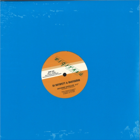 "( DENT 010 ) DJ SOTOFETT / SKATEBARD/LAUER - Decoded Satellite (12"") Digitalo Enterprises"