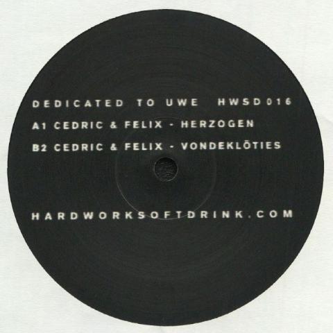 "( HWSD 016 ) Cedric DEKOWSKI / FELIX REIFENBERG - Dedictated To Uwe (10"") Hardworksoftdrink"
