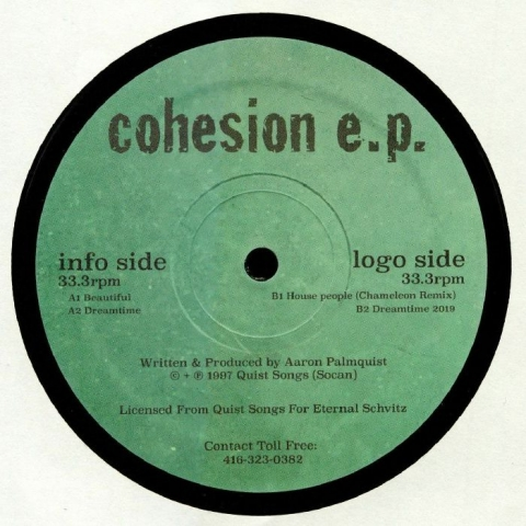 "( ES 002 ) Aaron PALMQUIST - Cohesion EP (12"" repress) (1 per customer) Eternal Schvitz"