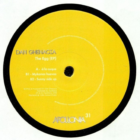"( APO 031 ) Dan GHENACIA - The Egg EP (12"") Apollonia France"