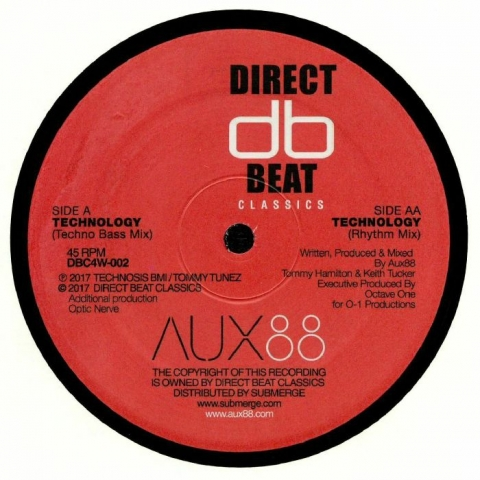 "( DBC 4W002 ) AUX 88 - Technology (reissue) (12"") Direct Beat US"