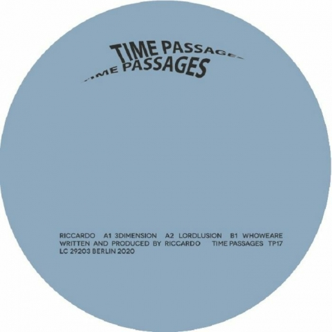 """( TP 17 ) RICCARDO - 3Dimension (12"""") Time Passages Germany"""