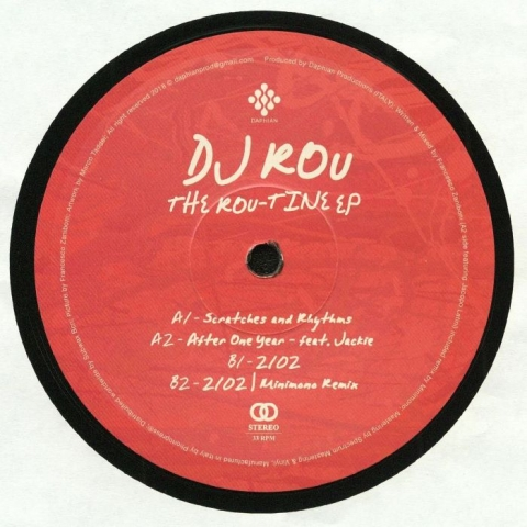 "( DPV 003 ) DJ ROU - The Rou Tine EP (heavyweight vinyl 12"") Daphian Productions Italy"