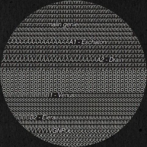 "( VGNR 06 ) MALIN GENIE- Eschaton EP (180 gram vinyl 12"") Vigenere"