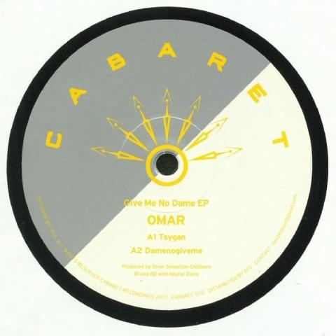 """( CABARET 015 ) OMAR - Give Me No Dame EP (12"""" + insert) Cabaret Japan"""