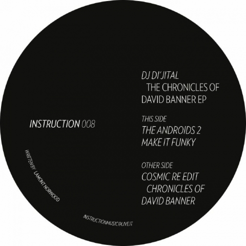 "( INST 08 ) DJ DI'JITAL - The Chronicles of David Banner EP (12"") Instruction"