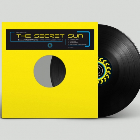 "( OCD.SS THREE REPRESS 2020) BALLET MECHANIQUE - OCD Presents The Secret Sun: Ballet Mechanique 1992-1999 Collection Vol 2 (yellow vinyl 12"") Open Channel For Dreamers"