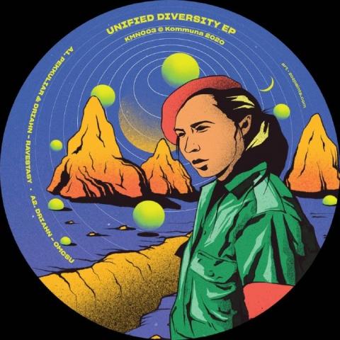 "( KMN 003 ) PEKKULIAR / DRIAHN / CRUMP / CMYK - nified Diversity EP (limited 12"") Kommuna"