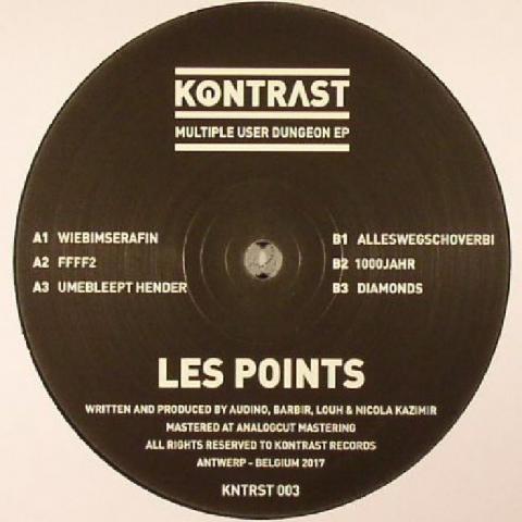 "( KNTRST 003 ) LES POINTS - Multiple User Dungeon EP (12"") - Kontrast Music"