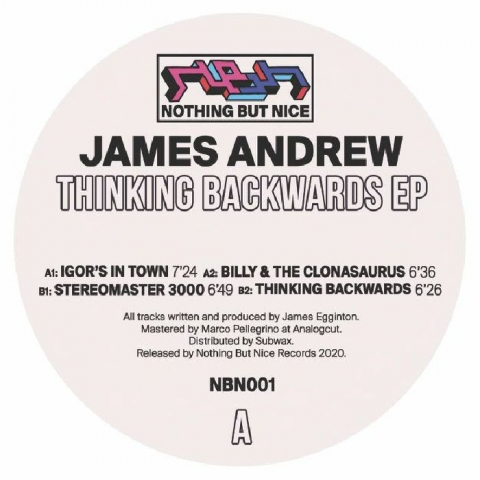 "( NBN 001 ) JAMES ANDREW - Thinking Backwards (12"") Nothing But Nice"