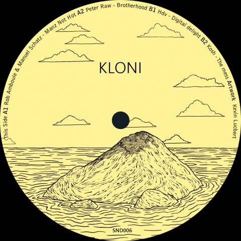 "( SND 006 ) VA - Rob Amboule & Manuel Schatz, Peter Raw, Hdv, Kosh - Kloni Ep (12"") Sounds Benefit"