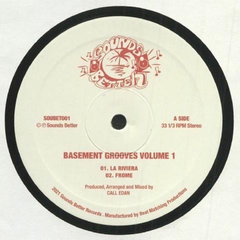 """( SOUBET 001 ) CALL EDAN - Basement Grooves Volume 1 (12"""") Sounds Better UK"""