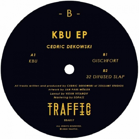 "( TRAFFIC 017 ) Cedric DEKOWSKI - KBU EP (12"") Traffic"