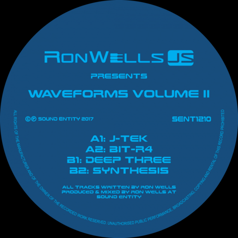 "( SENT 1210 ) RONWELLSJS - Waveforms Volume II  (vinyl only 12"") Sound Entity Records"