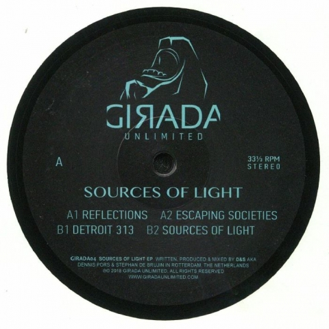 "( GIRADA 04 ) D&S - Sources Of Light (12"") Girada Unlimited Spain"