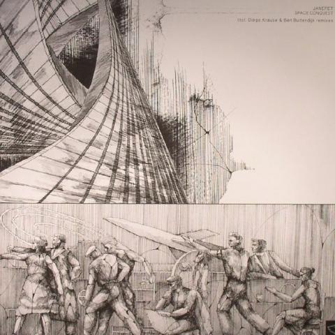 "( BERGAMON 03 ) JANERET - Space Conquest (12"") - Berg Audio France"