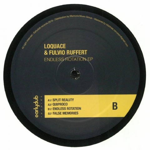 "( EDRV 007 ) LOQUACE / FULVIO RUFFERT - Endless Rotation EP (12"") - Earlydub"