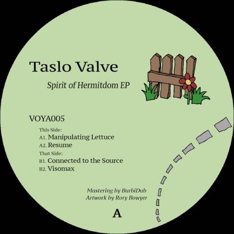 """( VOYA 005 ) TASLO VALVE - Spirit Of Hermitdom EP ( 12"""" vinyl ) Free Voyage"""