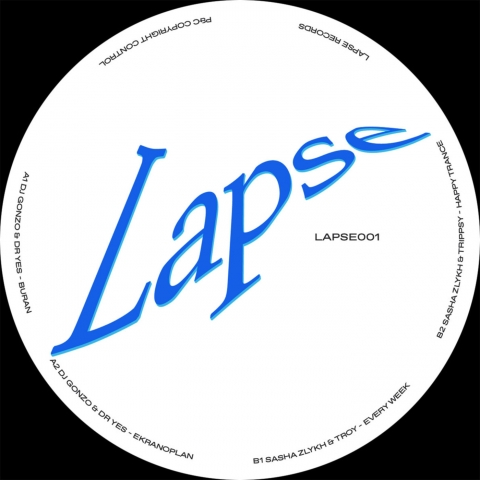 "( LAPSE 001  ) VARIOUS (DJ Gonzo & Dr. Yes, Sasha Zlykh…) - LAPSE001 (12"" Vinyl) Lapse Records"