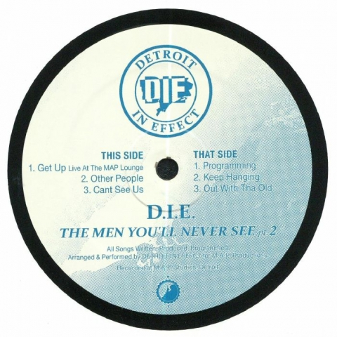 "( CWCS 010 ) DIE - The Men You'll Never See Part 2 (12"") Clone West Coast Series Holland"