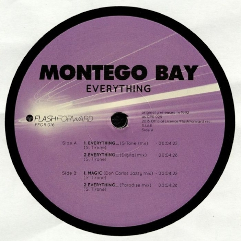 "(  FFOR 016 )  MONTEGO BAY - Everything (12"") Flash Forward"