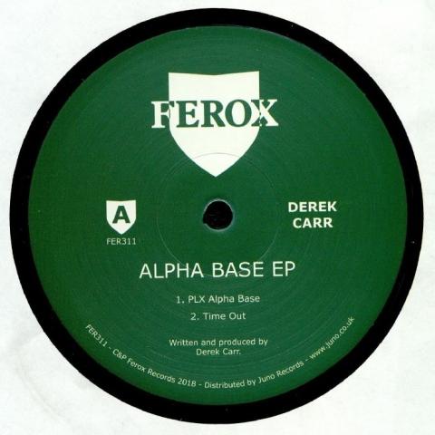 """( FER 311 ) Derek CARR - Alpha Base EP (180 gram vinyl 12"""") Ferox"""