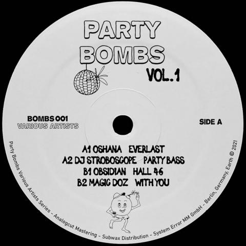 "( BOMBS 001 ) VARIOUS ARTISTS - Party Bombs Vol. 1 ( 12"" vinyl ) Party Bombs"