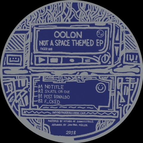 "( PAGER 008 ) OOLON - Not A Space Themed EP (180 gram vinyl 12"") Pager"