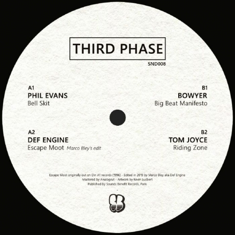 "( SND 008 ) PHIL EVANS / DEF ENGINE / BOWYER / TOM JOYCE - Third Phase (12"") Sounds Benefit"