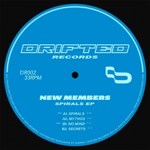 """( DR 002 ) NEW MEMBERS - Spirals EP (12"""") Drifted"""
