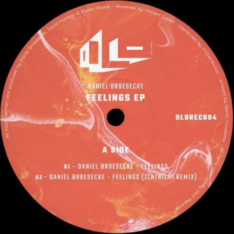 "( OLOREC 004 ) DANIEL BROESECKE - Feelings EP ( 12"" vinyl ) OLO Records"