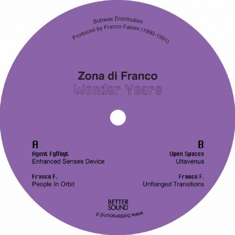"( BS 05 ) ZONA DI FRANCO - Wonder Years (12"") Better Sound Italy"