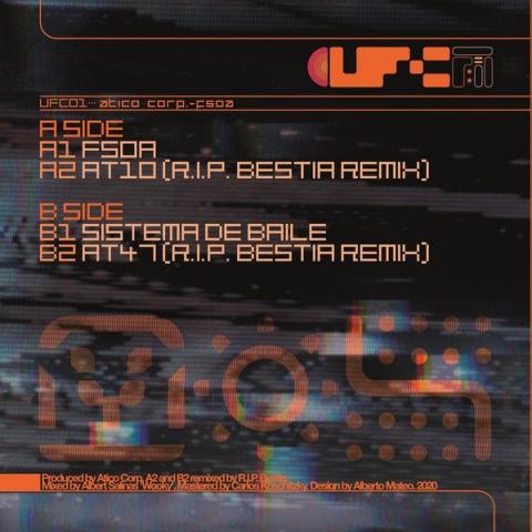 "( UFC 01 ) Atico Corp. – Fsoa EP - Vinyl, 12"", Limited Edition - Ufc "