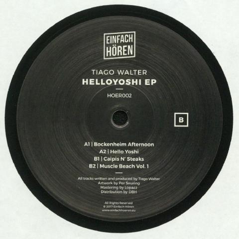 "( HOER 002 ) Tiago WALTER - Helloyoshi EP (12"") Einfach Horen Germany"