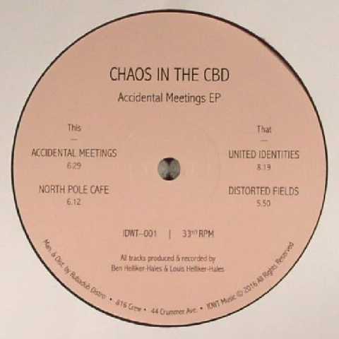 "( IDWT 001 ) CHAOS IN THE CBD - Accidental Meetings EP (12"" repress) (1 per customer) In Dust We Trust"