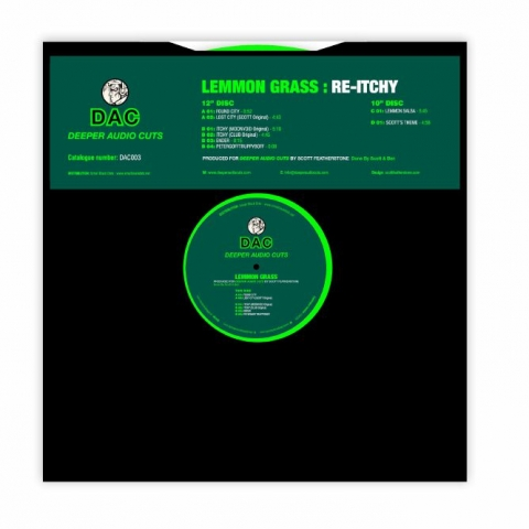 "( DAC 003 ) LEMMON GRASS - Re Itchy EP (lime green 12"" + dark green 10'') Deeper Audio Cuts"