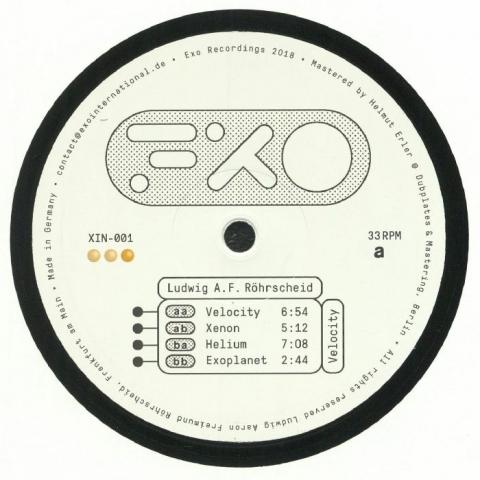 "(  XIN 001 ) Ludwig AF ROHRSCHEID - Velocity (12"" repress) Exo Recordings Intl"