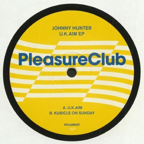"""( PCLUB 007 ) JOHNNY HUNTER - UK Aim EP (10"""") Pleasure Club"""