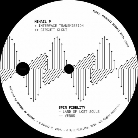 "( MS 001 ) MIHAIL P / SPIN FIDELITY - Waves Of Magnetism (12"") Magnonic Signals Spain"