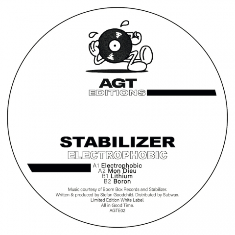 "( AGTE 02 ) STABILIZER - Electrophobic ( 12"" vinyl ) AGT Records"