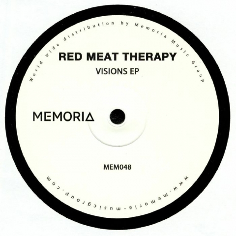 "( MEM 048 ) RED MEAT THERAPY - Visions EP (heavyweight vinyl 12"") Memoria Recordings Netherlands"